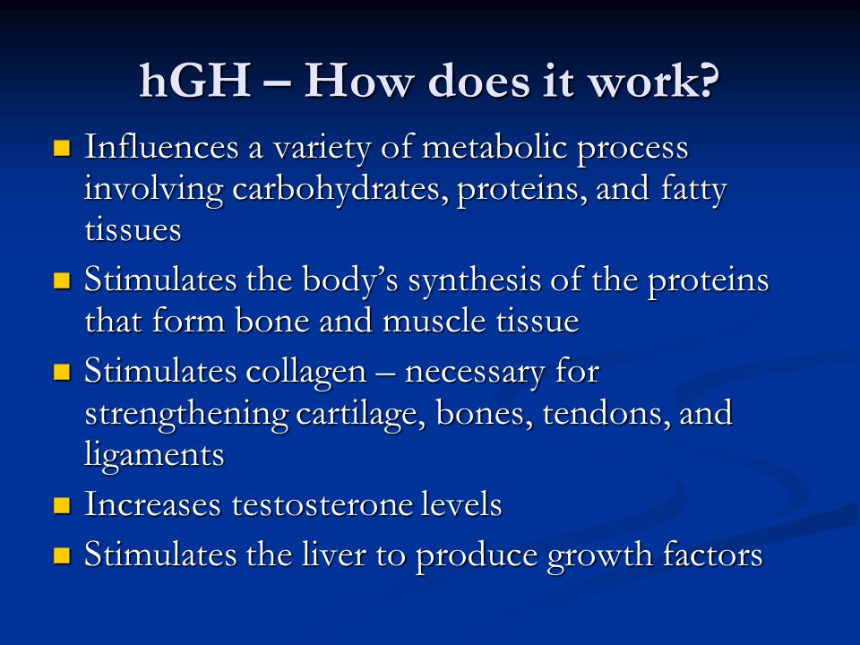HGH working